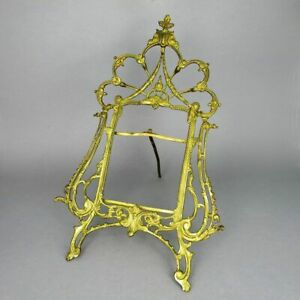 Antique Stand Photo Picture Frame IN Bronze Matte Fire Gilded 19. Century $192.56