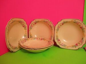 Homer Laughlin Riviera Floral Decal Fruit Dishes $12.00