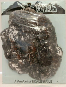 Multi Scale Small curved Rock Formation fully painted and ready for display $9.95