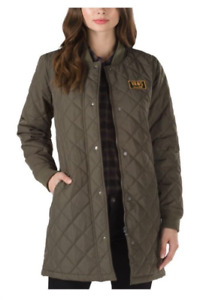Vans Boom Boom Oversize Quilt Jacket Coat Green Womens Sizes L and XL NWT NEW $59.98