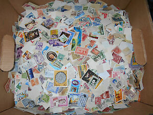 World wide foreign stamp mix One pound off paper bulk lot NEW LOWER PRICE $32.95