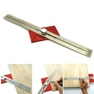 Multifunction Angle Ruler T Type Line Marker Aluminum Alloy Woodworking Tool $26.25