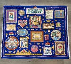 Vintage Mary Engelbreit It's Good To Be Queen Fabril Craft Panel NEW