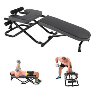 Multifunction Inversion Table Sit ups Abdominal Home Gym Strength Training Chair $89.79