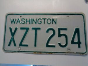 1968 1982 Washington WAWN State license plate with good reflective and color