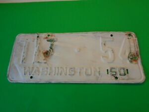 1950 Washington State  WAWN  Trailer  license plate  TLT 54 Low Number YOM