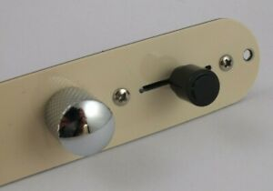 1PCS CREAM CONTROL PLATE for Telecaster style guitar Switch Pots Knobs AU $82.87