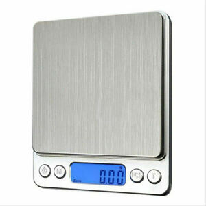 500g 0.01 Kitchen Digital Scale LCD Electronic Balance Food Weight Postal Scales