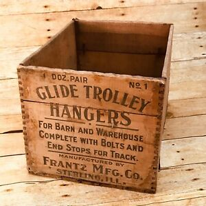 Vintage Antique Wooden Crate Primitive Advertising Shipping Box $50.00