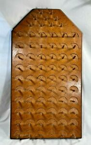 Vintage Wooden Hanging Sewing Thread Holder Spool Rack Holds 69 Spools 20quot; x11quot; $24.99