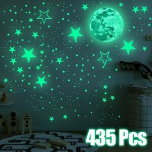 435PCS SET Glow In The Dark Luminous Stars And Moon Planet Space Wall Stickers