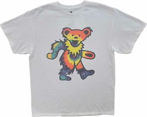 New Men#x27;s Grateful Dead Junk Food Dancing Bears White Retro Vintage T Shirt $17.99