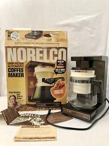 Vintage Norelco Dial A Brew Coffee Pot Maker HB5140 Glass Carafe 12 Cup