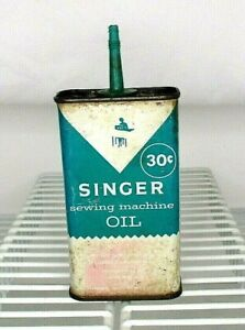 Vintage Singer Sewing Machine Oil Tin Can 4 Oz. Empty $14.99