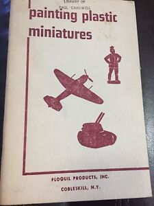 1968 VINTAGE PAINTING PLASTIC MINIATURES Booklet FLOQUIL PRODUCTS
