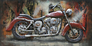3D Metal Art 100% Handmade Metal Unique Wall Art Stereograph Oil Painting $174.30