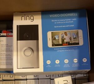 Ring Video Doorbell with HD Video Motion Activated Alerts Satin Nickel NEW