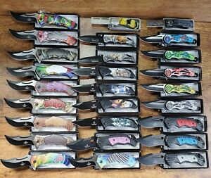 NEW WHOLESALE LOT 27 PCS TACTICAL ASSORTED SPRING FOLDING ASSISTED POCKET KNIFE