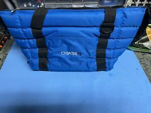 Chase Bank Insulated Cooler Bag Blue