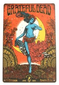 The Grateful Dead in Concert Metal Tin Poster Sign Vintage Ad Style Rustic Look