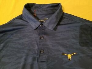 Mens Under Armour Polo Shirt L Large Blue Athletic Golf $17.96