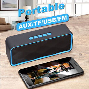 Upgraded Stereo Enhanced Bass Wireless Speaker Bluetooth Subwoofer USB AUX TF FM $11.98