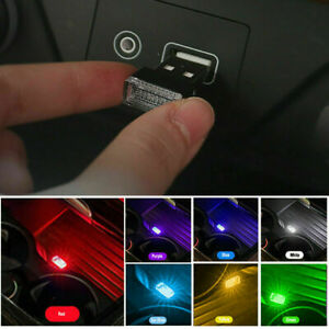 1* USB LED Car Interior Light Neon Atmosphere Ambient Lamp Bulb Accessories $1.62