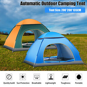 2 5 Person Instant Pop Up Tent Waterproof Camping Outdoor Family Hiking Shelter
