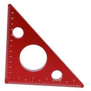 Woodworking Quare Ruler 5in 13cm Right Angle Triangle Height Ruler Aluminum $24.17