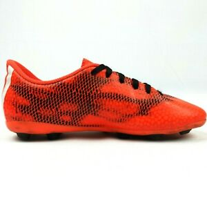 Adidas Youth Orange Casual Comfy Round Toe Low Top Lace Up Soccer Cleats Sz 3 Y