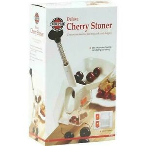 Norpro Deluxe Cherry Pitter Stoner Seed Remover With Clamp Base #5120
