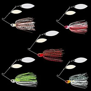 Fishing Lures for Bass5 Pcs Spinner Baits for Bass FishingTrout Lures
