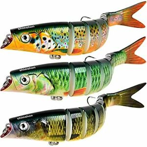 Fishing Lures for Bass Trout Lures Multi Jointed Trout Bait Slow Sinking Bass