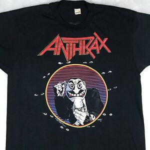vintage 80s ANTHRAX DON'T YOU F*CKING LOOK AT ME CONCERT T Shirt L metal rock $149.99