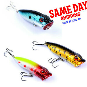 High Quality Top water Popper Freshwater Fishing Lures Bass Crankbait Tackle USA