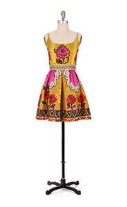 $608 New Anthropologie Runway Rose Festival Dress Made in USA Size 12 $350.00