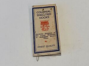 Vintage Colonial Special Snell Tied Hooks 840S Worm Gang Rare $10.00