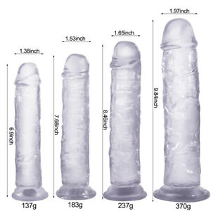 Jelly Dong Dildo Suction Cup 4 Sizes Waterproof Realistic Cock Veined Dildos $15.99
