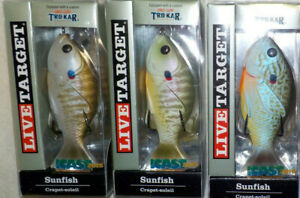 LIVE TARGET SUNFISH TOPWATER BASS FISHING LURE CHOICE OF COLOR WITH TROKAR HOOK