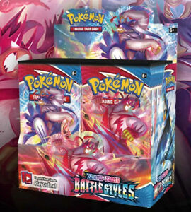 3 BATTLE STYLES Booster Pack Lot Factory Sealed From Box Pokemon Cards $15.00