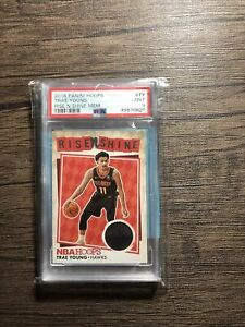 trae young nba hoops rise N shine rookie patch psa 9 POP 4 $125.00