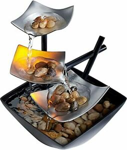 Tabletop Water Fountain Indoor Waterfall Zen Relaxation Tranquil $26.59