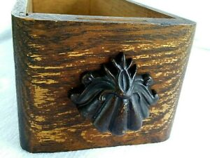 Vintage Solid Wood Sewing Drawer Decorative Wood Pull Handle Tongue Groove $19.00