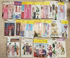 Lot of 19 Costumes Kids#x27; Sewing Patterns most uncut $30.00