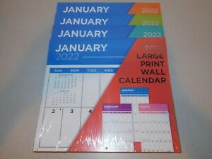 2022 Large Print Wall Calendar NEW Sealed Easy to See and Write On $9.25