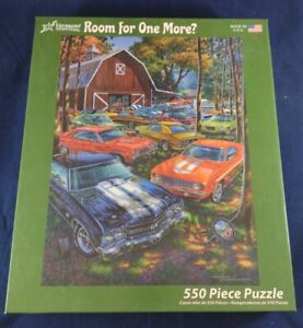 Room For One More? 550 Piece Jigsaw Puzzle Michael Irvine Vermont Cars Barn $4.99