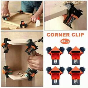4Pcs 90 Degree Right Angle Clip Clamps Corner Holders Woodworking Hand Tools $11.99