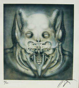 DAEMON Print by Giger Signed limited edition of 300 Archival paper. NEW $379.95
