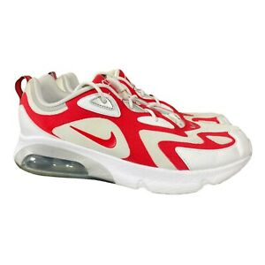 Nike Air Max 200 White amp; University Red AQ2568 100 Athletic Shoes Mens 13