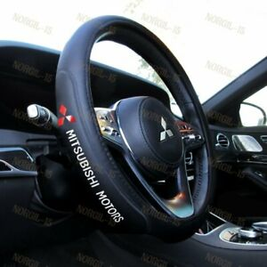 New Faux Leather For MITSUBISHI Black 15 Diameter Car Auto Steering Wheel Cover $25.88